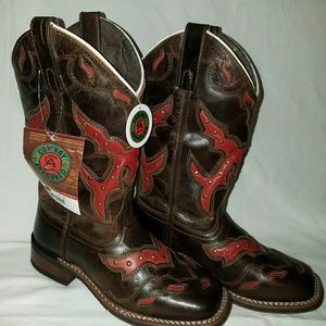 SOLD Laredo Paprika Western Boots Leather Cowgirl